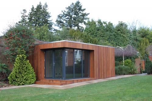 Insitu garden offices garden studios garden rooms for Corner garden office